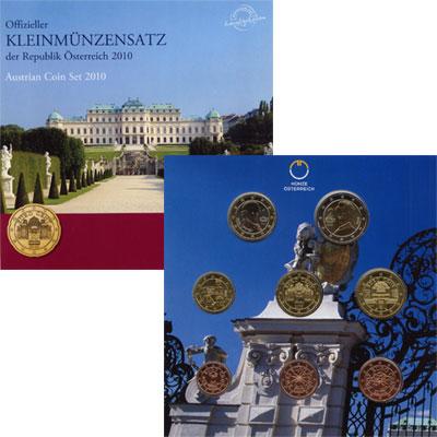 Изображение Подарочные монеты Австрия Евронабор 2010 2010  UNC Евронабор 2010 года.