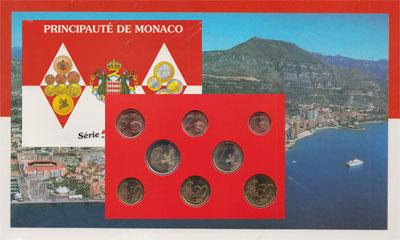 Изображение Подарочные монеты Монако Евронабор 2001 года 2001  UNC Представляем Вам наб