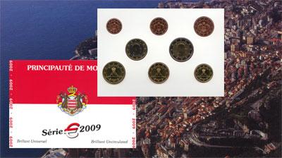 Изображение Подарочные монеты Монако Евронабор 2009 года 2009  UNC Представляем Вам наб