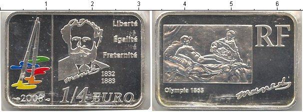 Картинка Мелочь Франция 1/4 евро Серебро 2008