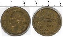 Изображение Мелочь Франция 20 франков 1951 Медно-никель XF KM#917,1 G,GUIRAUD