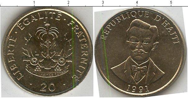 Картинка Мелочь Гаити 20 сантимов Медно-никель 1991