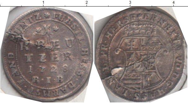 Картинка Монеты Гессен-Дармштадт 10 крейцеров Серебро 1728