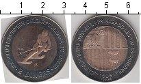Изображение Монеты Андорра 2 динера 1985 Биметалл XF Зимняя олимпиада в К
