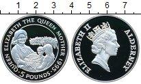 Изображение Монеты Олдерни 5 фунтов 1995 Серебро Proof- Королева Елизавета I