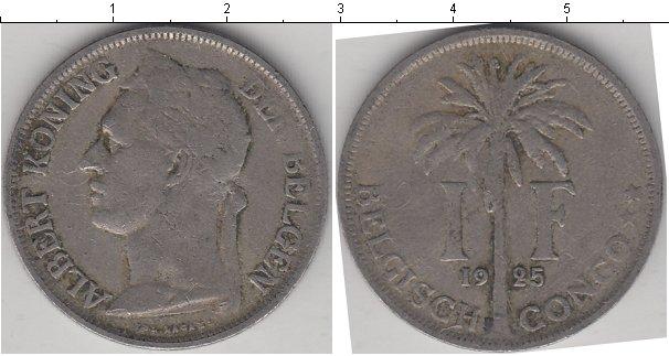 Картинка Монеты Бельгийское Конго 1 франк Медно-никель 1925