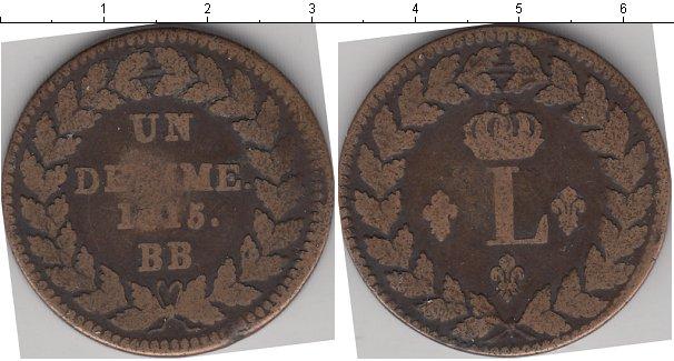 Картинка Монеты Франция 1 десим Медь 1815