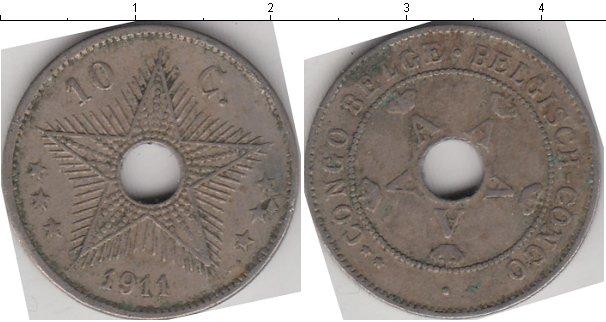 Картинка Монеты Бельгийское Конго 10 сантимов Медно-никель 1911