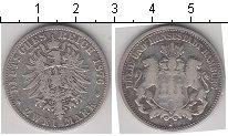 Изображение Монеты Гамбург 2 марки 1876 Серебро  J