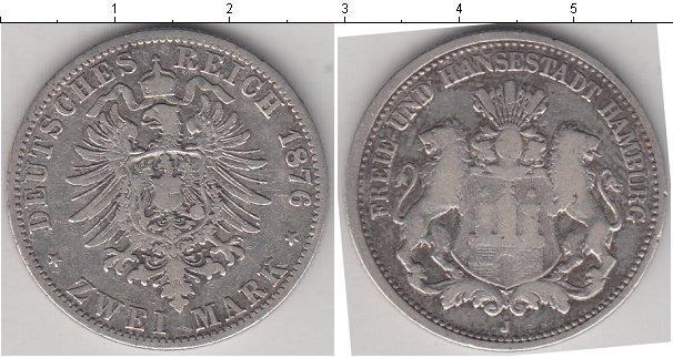 Картинка Монеты Гамбург 2 марки Серебро 1876