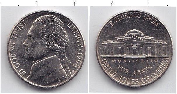 Картинка Мелочь США 5 центов Медно-никель 0