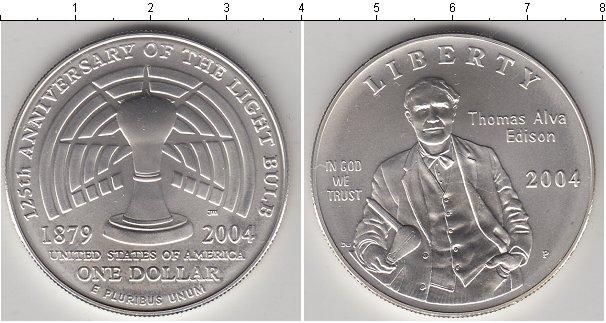 Картинка Мелочь США 1 доллар Серебро 2004