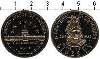 Изображение Мелочь США 1/2 доллара 1989 Медно-никель UNC 200-летие Конгресса