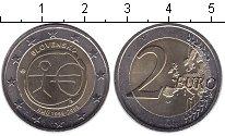 Изображение Мелочь Словакия 2 евро 2009 Биметалл UNC- 10-летие Экономическ