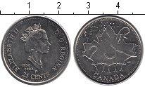 Изображение Мелочь Канада 25 центов 2002 Медно-никель UNC- День Канады (кленовы