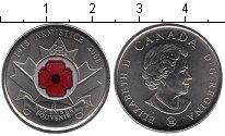 Изображение Мелочь Канада 25 центов 2008 Медно-никель UNC- 90 лет со дня оконча