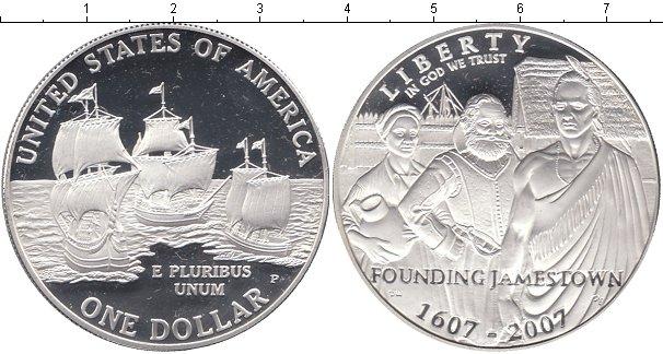 Картинка Мелочь США 1 доллар Серебро 2007