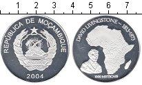 Изображение Монеты Мозамбик 1.000 метикаль 2004 Посеребрение Proof- Давид Ливингстон