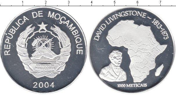 Картинка Монеты Мозамбик 1.000 метикаль Посеребрение 2004
