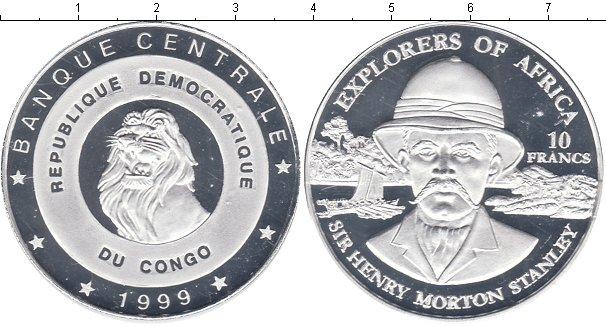 Картинка Монеты Конго 10 франков Посеребрение 1999