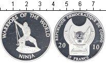 Изображение Мелочь Конго 10 франков 2010 Посеребрение Proof-