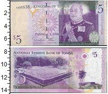 Изображение Банкноты Тонга 5 панга 2008  UNC Портрет короля Георг