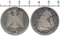 Изображение Мелочь ФРГ 5 марок 1980 Медно-никель Proof D.