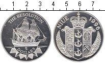 Изображение Монеты Ниуэ 5 долларов 1996 Серебро Proof- `Корабль ``Резолюшн`