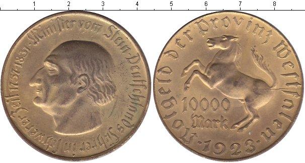 Картинка Монеты Вестфалия 10.000 марок Медь 1923