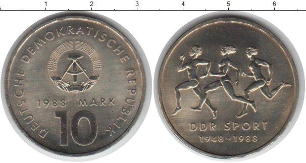 Картинка Монеты ГДР 10 марок Медно-никель 1988