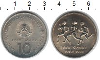 Изображение Монеты ГДР 10 марок 1988 Медно-никель UNC Спорт в ГДР