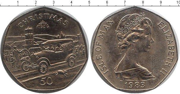 Картинка Мелочь Остров Мэн 50 пенсов Медно-никель 1983