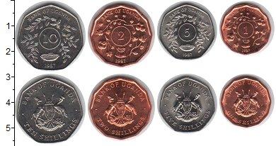 Изображение Наборы монет Уганда Уганда 1987 1987  UNC В наборе 4 монеты но