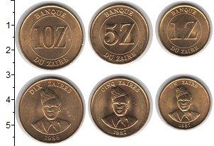 Изображение Наборы монет Заир Заир 1987-1988 0  UNC- В наборе 3 монеты но