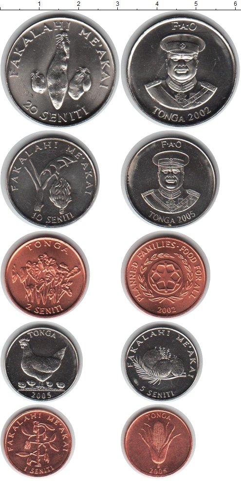 Картинка Наборы монет Тонга Тонга 2002-2005  0