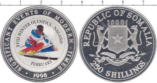 Картинка Монеты Сомали 250 шиллингов Серебро 1998