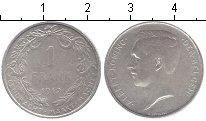 Изображение Мелочь Бельгия 1 франк 1912 Серебро XF Альберт I