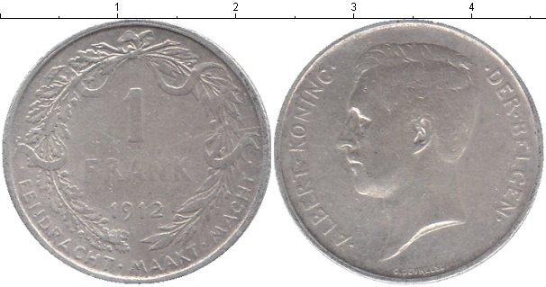 Картинка Мелочь Бельгия 1 франк Серебро 1912