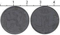 Изображение Мелочь Бельгия 1 франк 1942 Цинк  Леопольд III. BELGIE