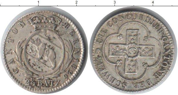 Картинка Монеты Берн 2 1/2 батцен Серебро 1826
