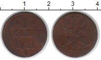 Изображение Монеты Германия Франкфурт 1 геллер 1821 Медь VF
