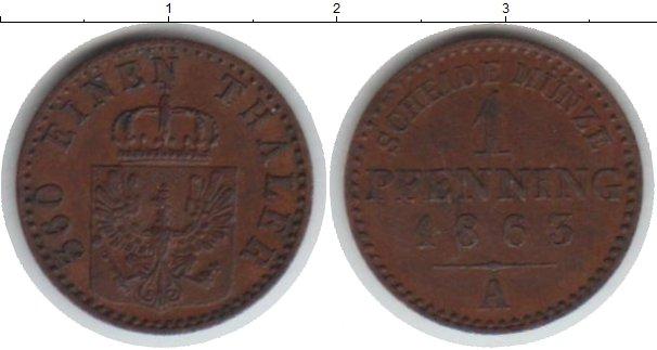 Картинка Монеты Пруссия 1 пфенниг Медь 1863