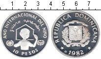 Изображение Монеты Доминиканская республика 10 песо 1982 Серебро Proof- Международный год ре