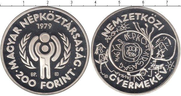 Картинка Монеты Венгрия 200 форинтов Серебро 1979