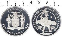 Изображение Монеты Ямайка 10 долларов 1979 Серебро Proof- Международный год ре