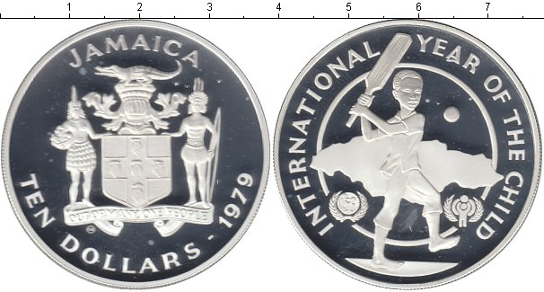 Картинка Монеты Ямайка 10 долларов Серебро 1979