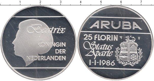 Картинка Монеты Аруба 25 флоринов Серебро 1986