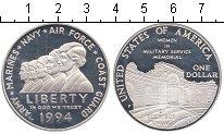 Изображение Мелочь США 1 доллар 1994 Серебро Proof Р