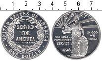 Изображение Мелочь США 1 доллар 1996 Серебро Proof- Национальные обществ