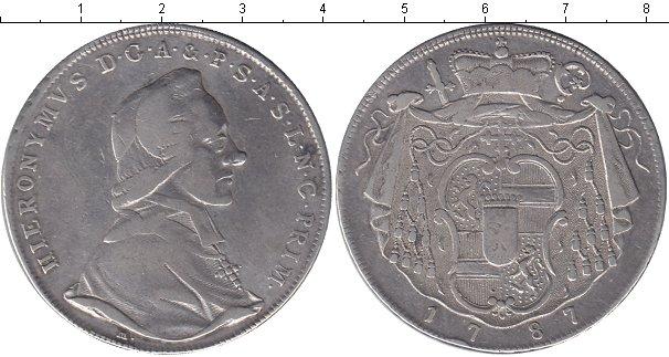 Картинка Монеты Зальцбург 1 талер Серебро 1787